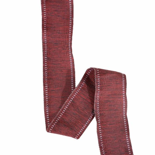 rött sidenband med ståltråd